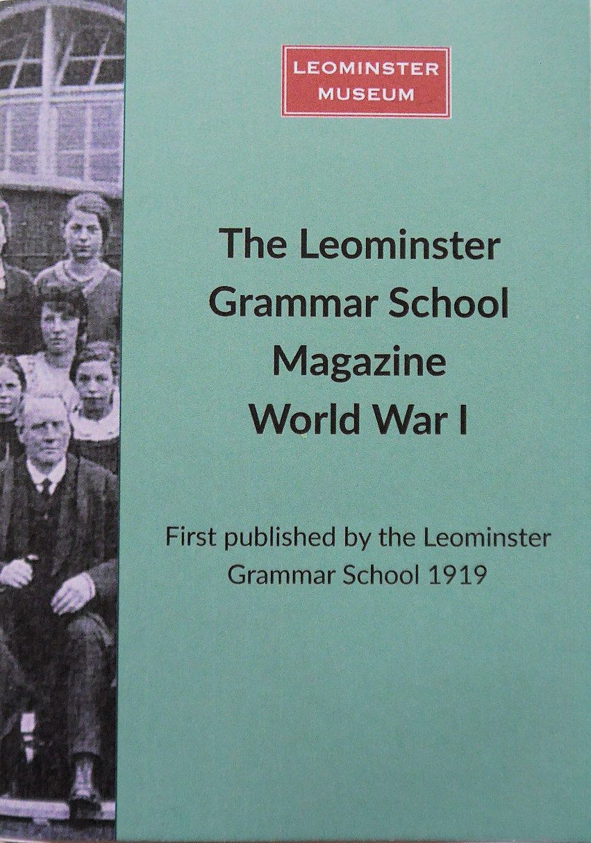 The cover of Leominster Museum's reprint of the commemorative special edition of the Leominster Grammar School Magazine published in 1919