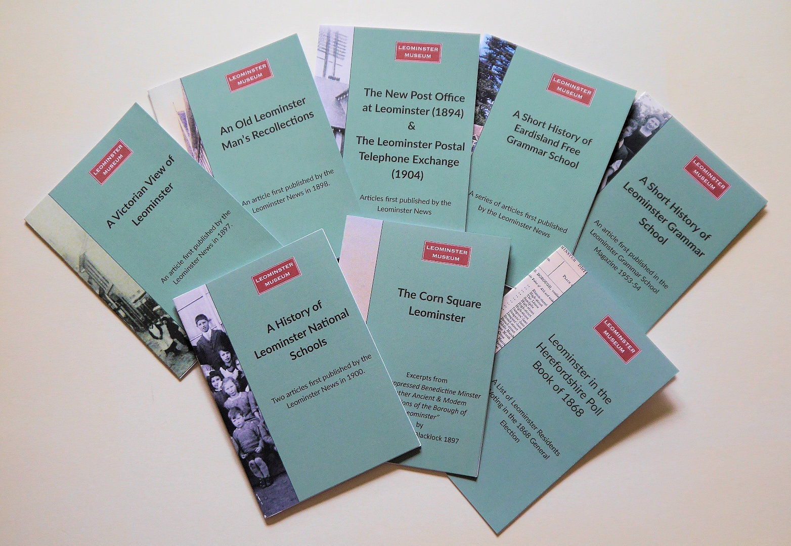 Eight titles in the History Reprints series of Leominster Museum booklets
