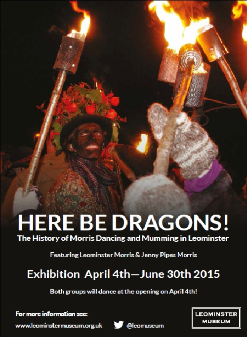 Publicity for the Here Be Dragons exhibition