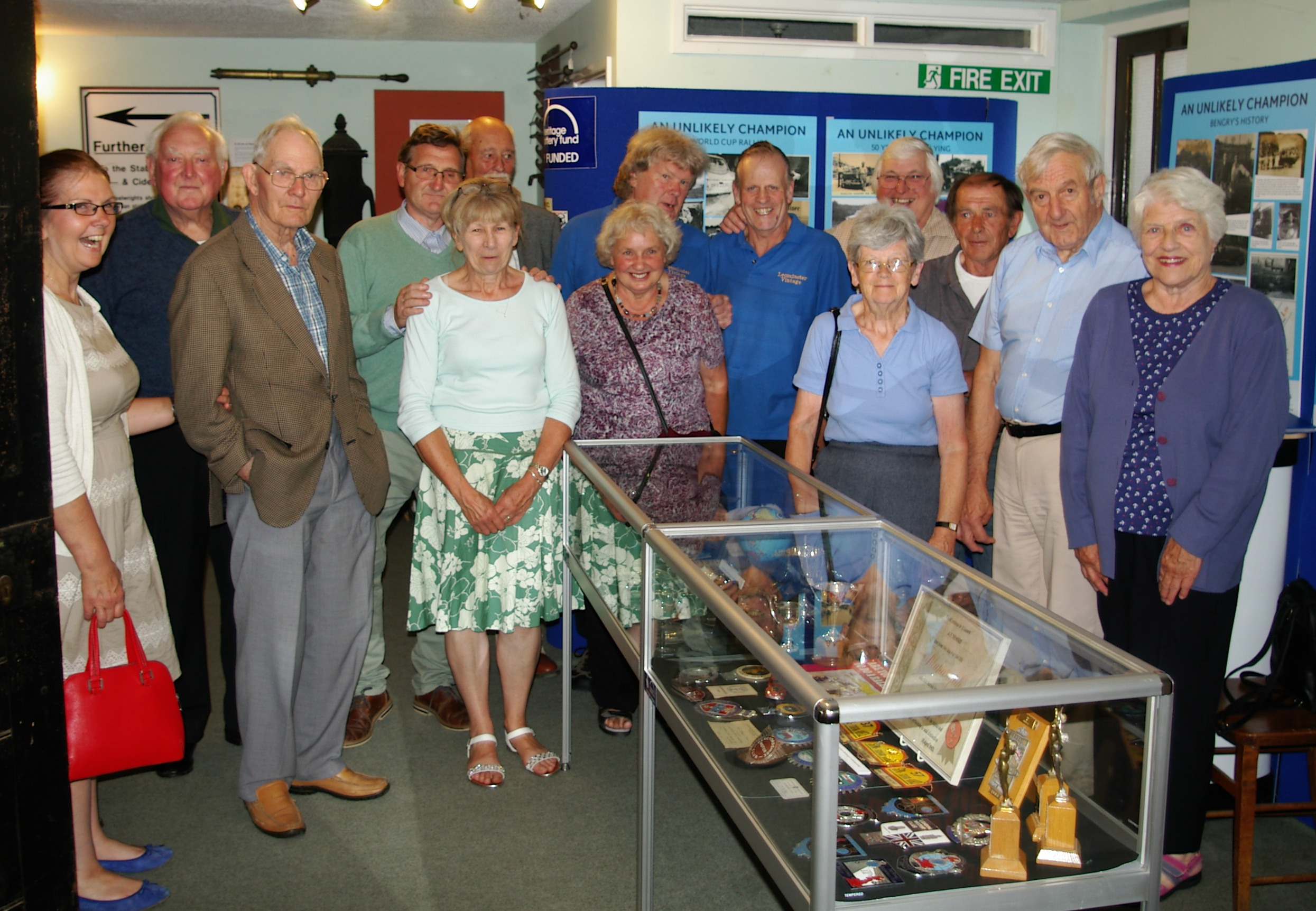Vintage Club members pose for a group photo to remember their visit