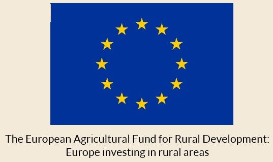 European Union flag with text 'The European Agricultural Fund for Rural Development:  Europe investing in rural areas'