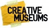 The Creative Museums logo features a piece of yellow paper taped to the wall to exemplify the process of experimentation