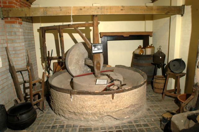 Tools on display in the stable block